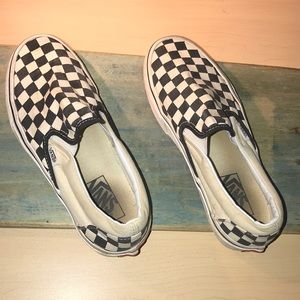 Vans checkerboard awesome slip on shoes -B7
